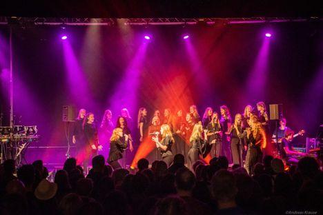 Mariagerfjord Pigekor indtog hovedscenen til Europas største rytmiske vokalfestival