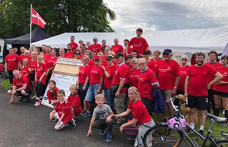 Team Ups´N´Downs indsamlede 100.000,- kroner til Stafet For Livet i Hobro 2019