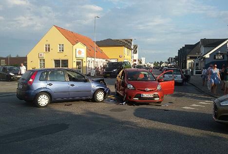 Sammenstød i kryds i Øster Hurup