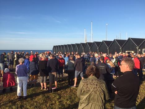 Flere end 300 til aftensang og 200 til jazzandagt onsdag aften på havnen i Øster Hurup