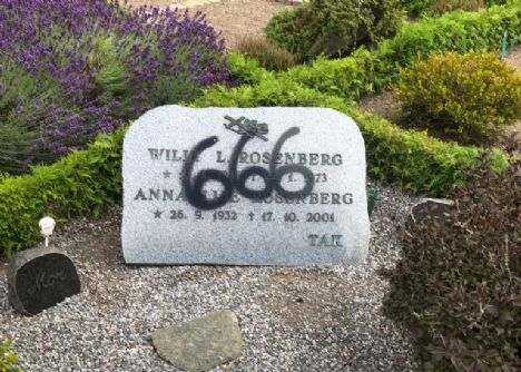 Hærværk på Hadsund kirkegård