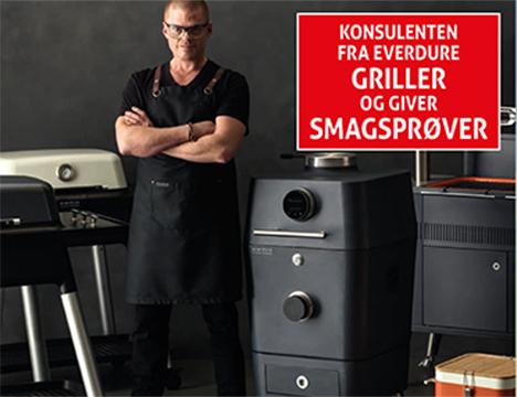 Grill demo hos XL Byg i Mariager