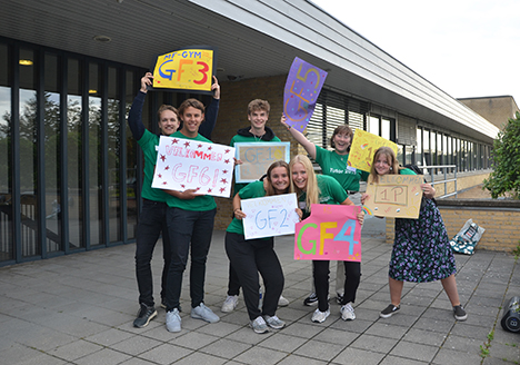 Første skoledag på Mariagerfjord Gymnasium