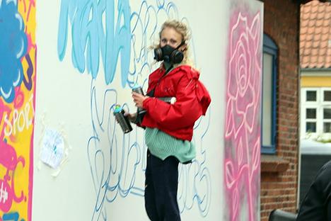 Grafitti og gadeidræt på Søndre Skole
