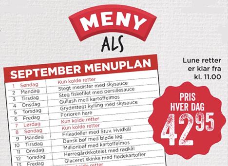 September menuplan hos Meny Als