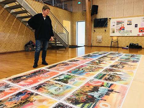 Et af verdens største puslespil blev vist frem i Vebbestrup