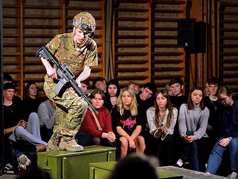Soldaten på Mariagerfjord Gymnasium