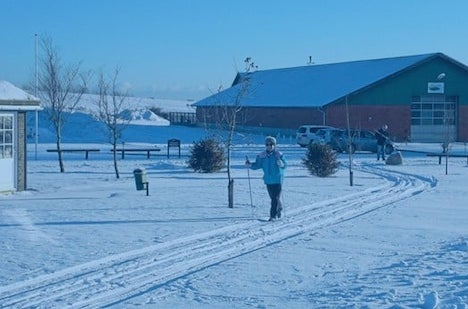 På ski på golfbanen i Hobro