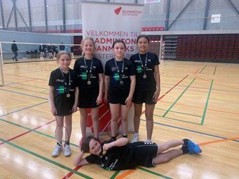 Hobro Badminton klub hentede sølv ved Danmarks Mesterskaberne for hold