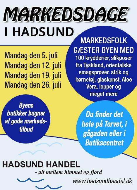 Kom til markedsdage i Hadsund