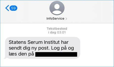 Svindel-sms'er er stadig i omløb