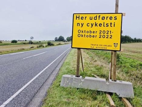 Den bliver lidt dyrere, men nu kommer cykelstien mellem Skjellerup og Mariager
