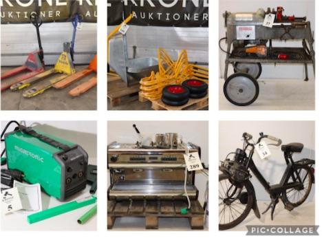 Ny stor samleauktion hos Krone over div maskiner, værktøj, rest/varepartier m.m.